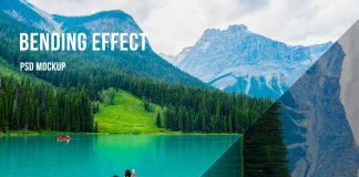 Perspective Bending Photoshop Effect Mockup