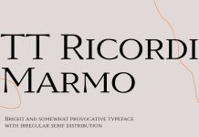 TT Ricordi Marmo font by TypeType.
