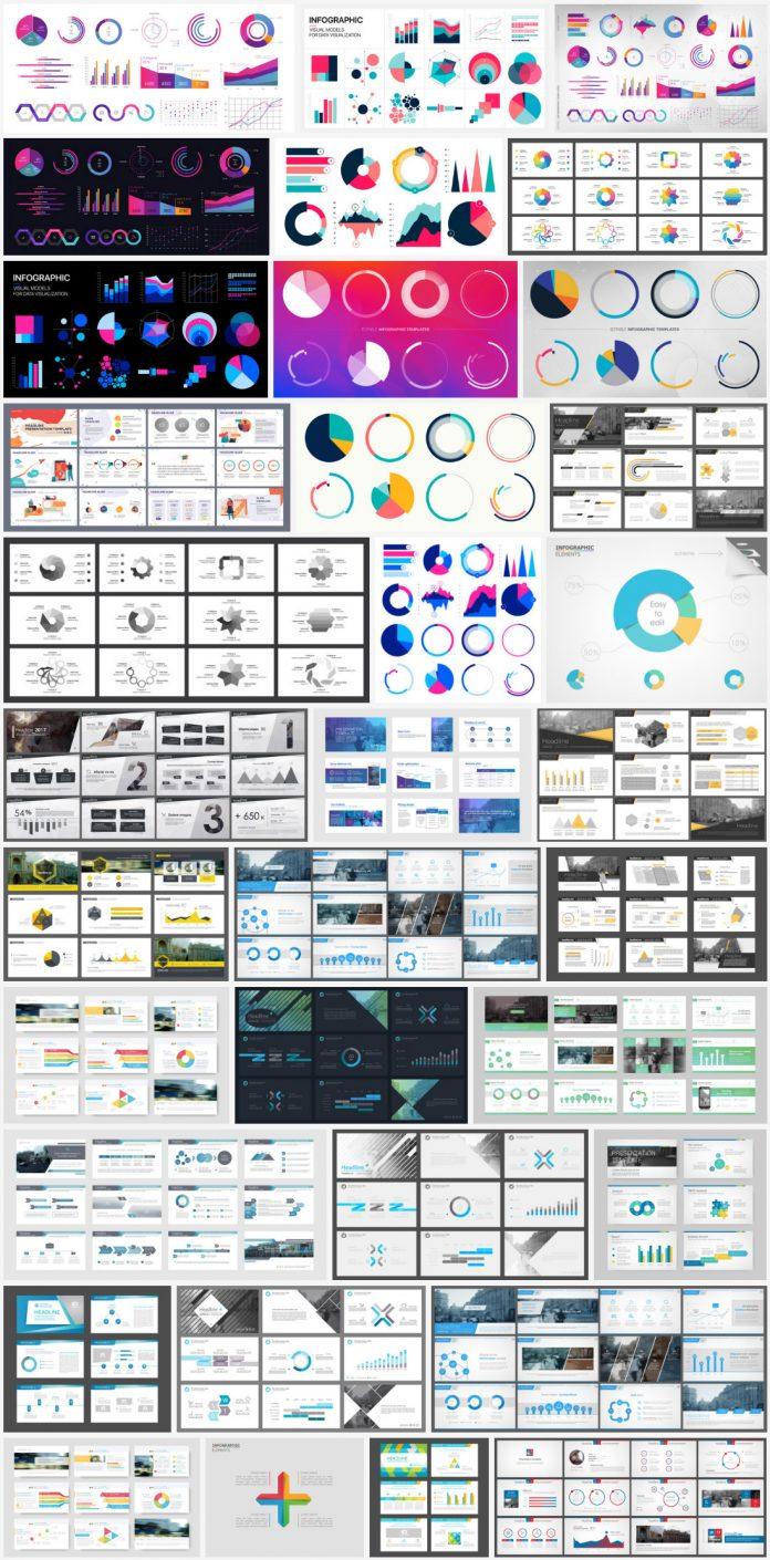 Editable vector infographics for presentations