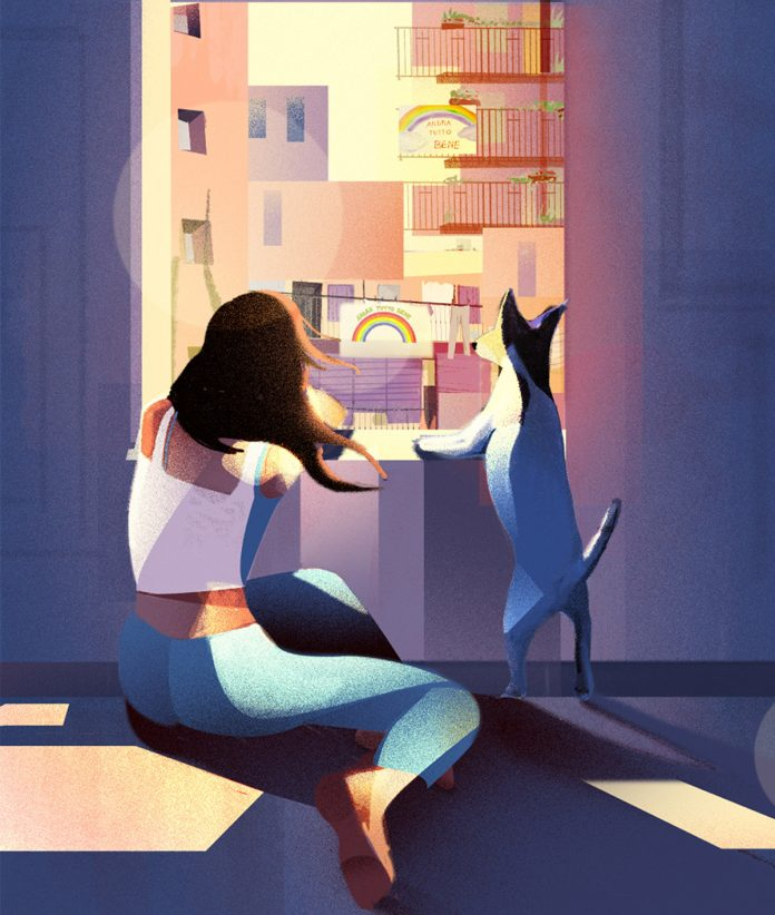 Be my quarantine—impression from 65 days of lockdown illustrated by Marianna Tomaselli.