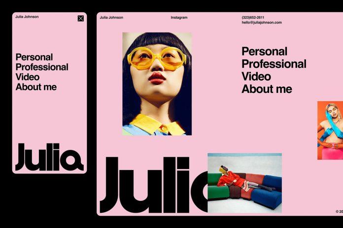 Julia Johnson branding by Sam Dallyn