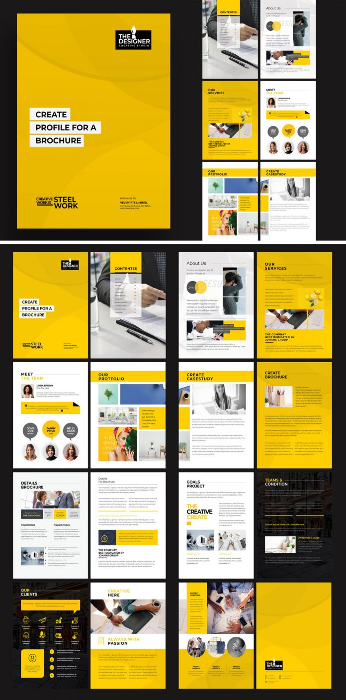 Bi-Fold Brochure Template for Adobe InDesign