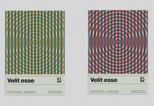 Modernist Swiss Graphic Design Event Poster Template for Adobe Illustrator.